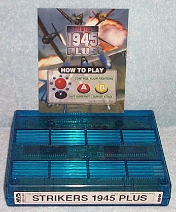 Strikers 1945 PLUS MVS game cart and marquee insert (chimpmeister)