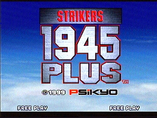 Strikers 1945 PLUS (Psikyo 1999) Title Screen (Mouse_Master)